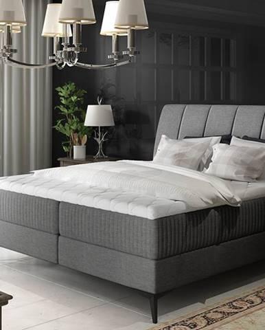 Altama 180 čalúnená manželská posteľ s úložným priestorom sivá (Sawana 05)
