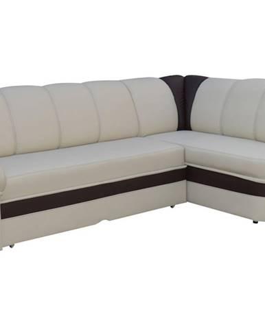 Belluno P rohová sedačka s rozkladom a úložným priestorom béžová