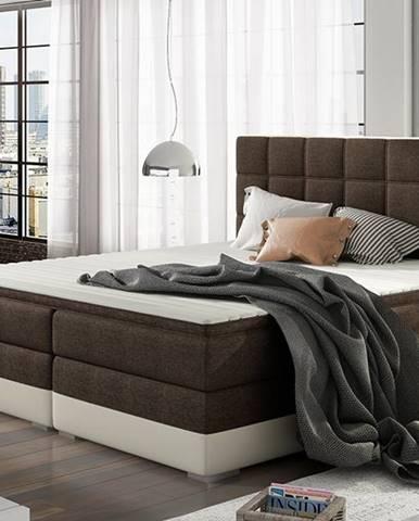 Dalino 160 čalúnená manželská posteľ s úložným priestorom tmavohnedá (Sawana 26)