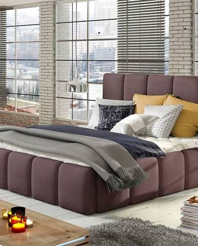 Evora 180 čalúnená manželská posteľ fialová