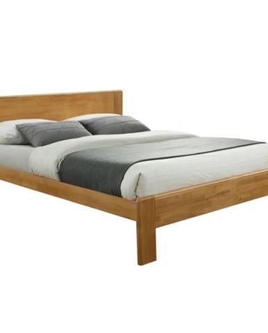 Kaboto 160 manželská posteľ s roštom dub