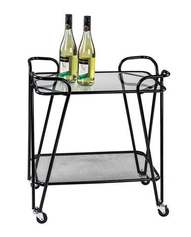 Megon servírovací stolík na kolieskach čierna