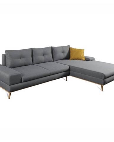 Panos P rohová sedačka s rozkladom a úložným priestorom sivá