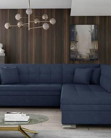 Pescara P rohová sedačka s rozkladom modrá (Soro 76)