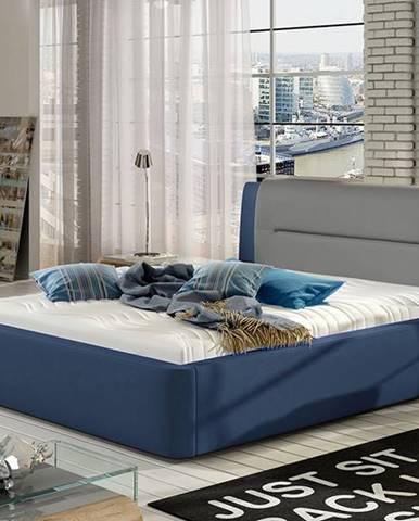 Portima 140 čalúnená manželská posteľ modrá