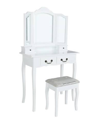Regina New toaletný stolík s taburetkou biela