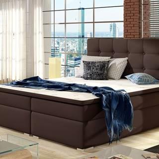 Isola 180 čalúnená manželská posteľ tmavohnedá (Soft 66)