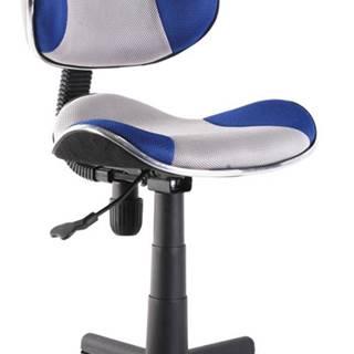 Q-G2 kancelárska stolička modrá