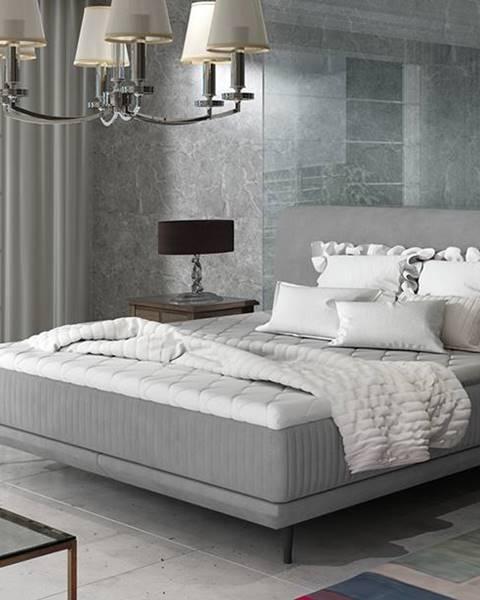 NABBI Ancona 160 čalúnená manželská posteľ sivá (Jasmine 90)