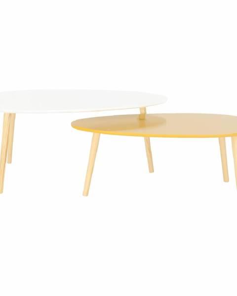 Tempo Kondela Doblo konferenčný stolík (2 ks) biely lesk