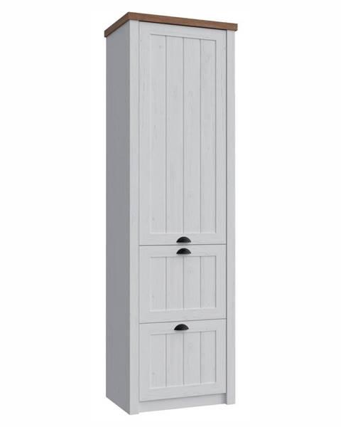 Tempo Kondela Provance S1D2S jednodverová šatníková skriňa sosna andersen