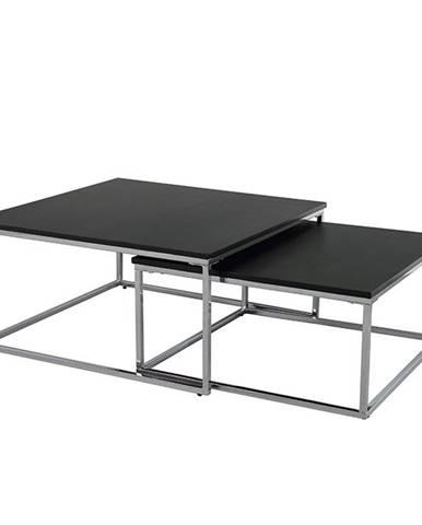 Amias konferenčný stolík (2 ks) čierna