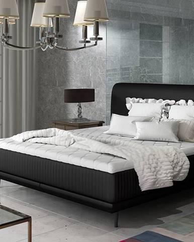 Ancona 140 čalúnená manželská posteľ čierna (Soft 11)
