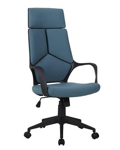 Bakari kancelárske kreslo s podrúčkami modrá