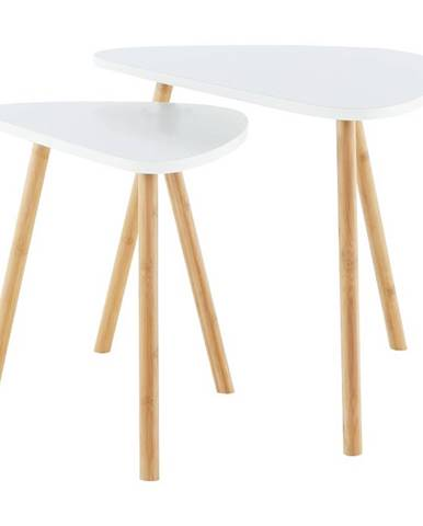 Bismak konferenčný stolík (2 ks) biela