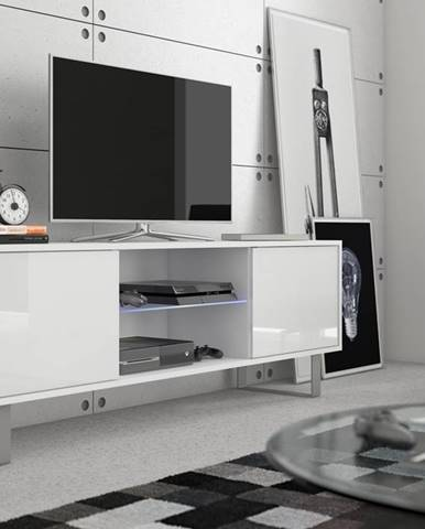 King KIN-02 tv stolík biela
