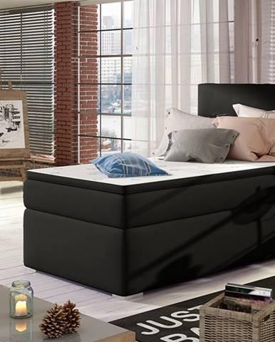 Rodrigo 90 P čalúnená jednolôžková posteľ s úložným priestorom čierna (Soft 11)