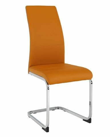 Vatena jedálenská stolička horčicová