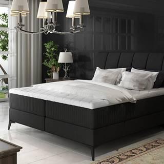Altama 180 čalúnená manželská posteľ s úložným priestorom čierna (Sawana 14)