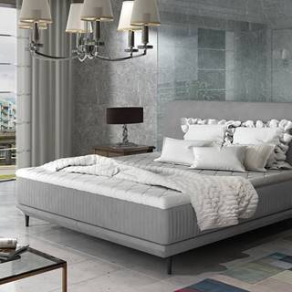 Ancona 160 čalúnená manželská posteľ sivá (Jasmine 90)