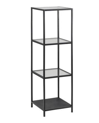 Čierny regál Actona Seaford, 35 x 119,5 cm