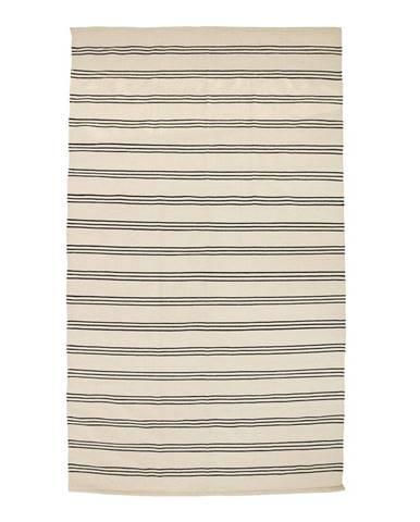 Béžový bavlnený koberec Bloomingville Stripe, 140 x 240 cm