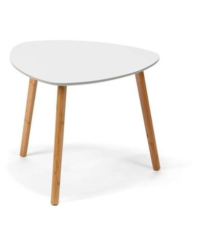 Biely odkladací stolík loomi.design Viby, 55 x 55 cm