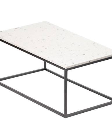 Konferenčný stolík s kamennou doskou RGE Bianco, dĺžka 110 cm