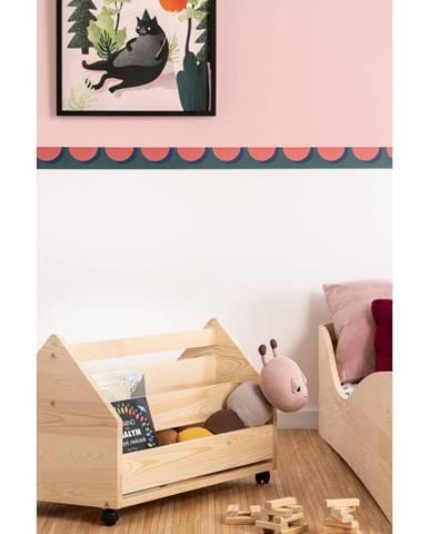 Pojazdný úložný box z borovicového dreva Adeko Kutu Alma, 60 cm