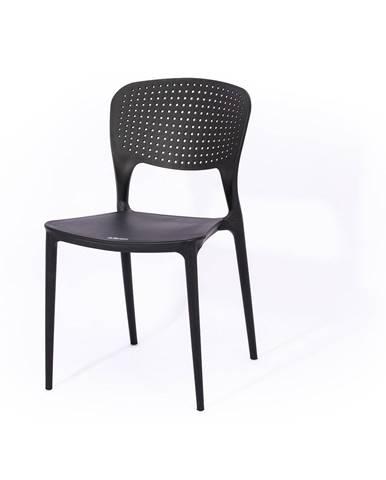Čierna záhradná stolička Le Bonom Wendy