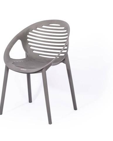 Sivá stohovateľná záhradná stolička Le Bonom Joanna