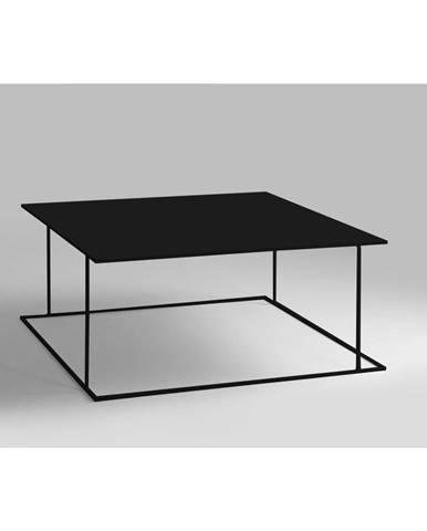 Čierny konferenčný stolík Custom Form Walt, 80 × 80 cm