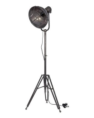 Sivá stojacia lampa BePureHome Spotlight