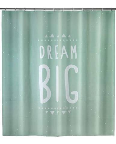 Mätovozelený sprchový záves Wenko Dream, 180×200 cm