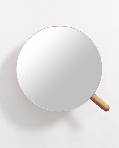 Nástenné kozmetické zväčšovacie zrkadlo z dubového dreva Wireworks