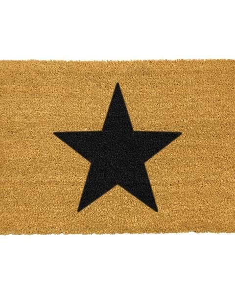 Artsy Doormats Rohožka z prírodného kokosového vlákna Artsy Doormats Star, 40 x 60 cm