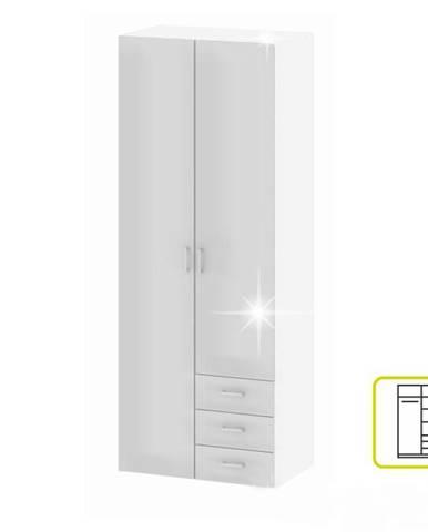 Skriňa 2 -dverová biela extra vysoký lesk HG GWEN 70425