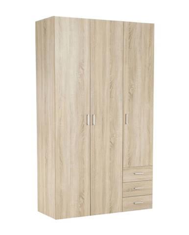 Skriňa 3 - dverová dub sonoma GWEN 70427