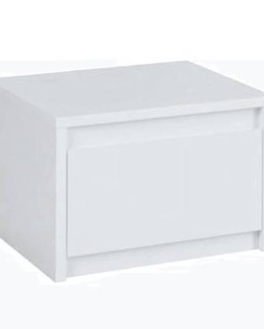 2x nočný stolík biela/extra vysoký lesk HG ITALIA