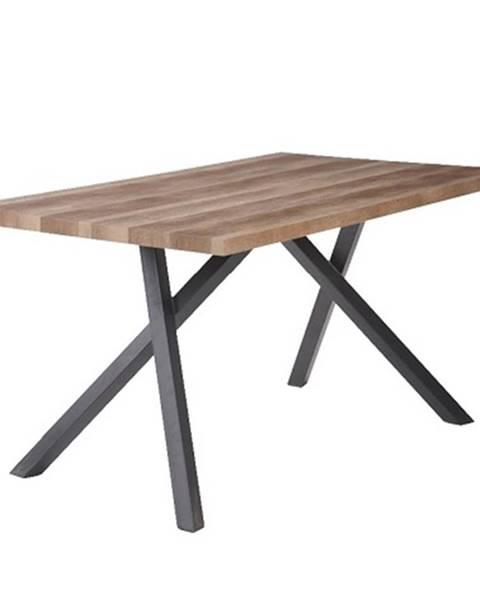 Kondela Jedálenský stôl svetlá slivka/čierna GURDUN poškodený tovar