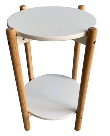 Príručný/nočný stolík biela/prírodná BAMP