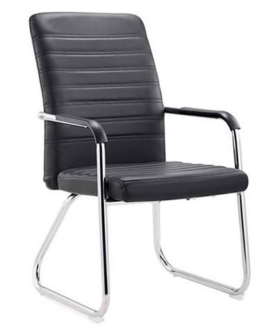 Zasadacia stolička čierna/chróm ISLA poškodený tovar