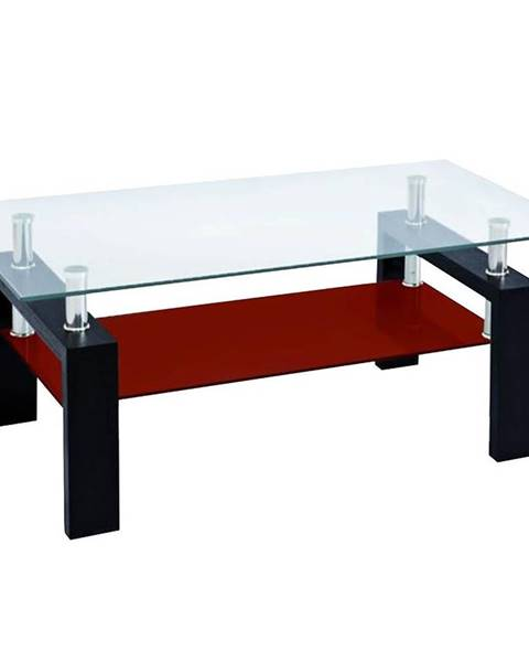 MERKURY MARKET Konferenčný stolík Lena čierna-červená Tl-D3 Br