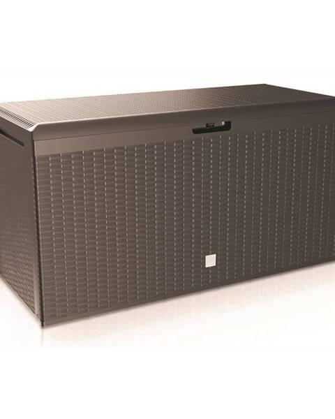 Altom Záhradný úložný box Boxe Rato Plus hnedá, 290 l, 114 cm