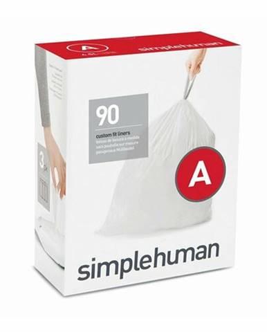 Vrecia do odpadkového koša 4,5 L, Simplehuman typ A, zaťahovacie, 3 x 30 ks (90 vriec )
