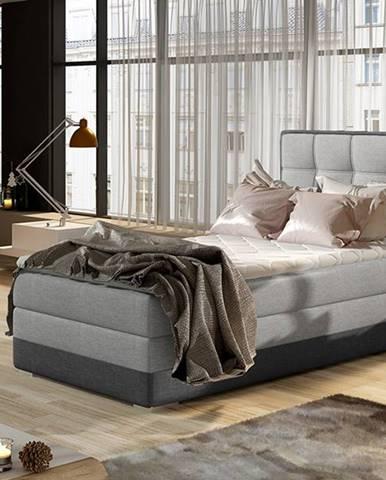 Alessandra 90 L čalúnená jednolôžková posteľ svetlosivá (Sawana 21)