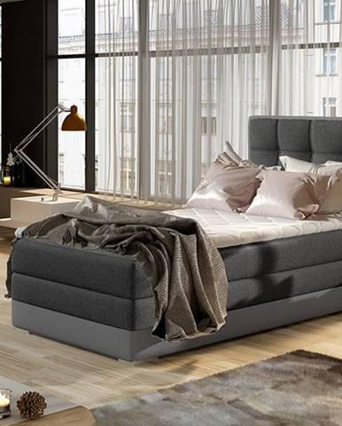 Alessandra 90 L čalúnená jednolôžková posteľ tmavosivá