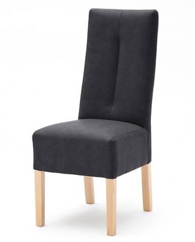 Jedálenská stolička FABIUS antracit/dub