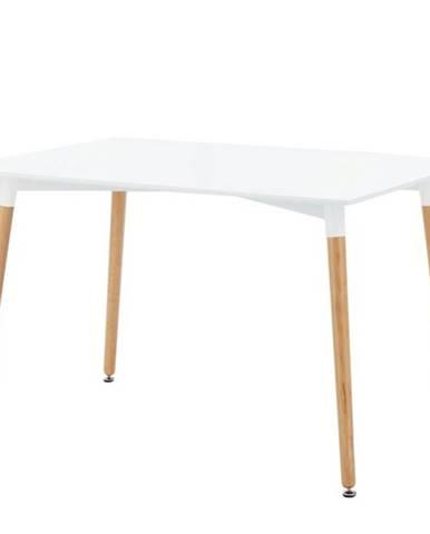 Jedálenský stôl HENRY biela/buk, 120 cm