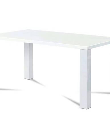 Jedálenský stôl SEBASTIAN biela vysoký lesk